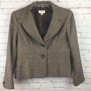 Talbots Wool/Silk Blend Blazer Petite 12